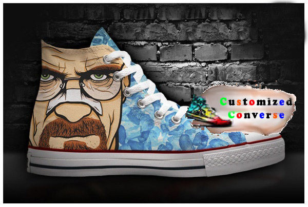 Breaking Bad Walter White Shoes - converse shoes - custom converse - customized converse
