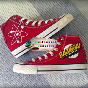 Big Bang Theory Shoes - converse shoes - custom converse - customized converse
