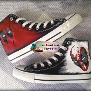 Deadpool Converse Shoes - converse shoes - custom converse - customized converse