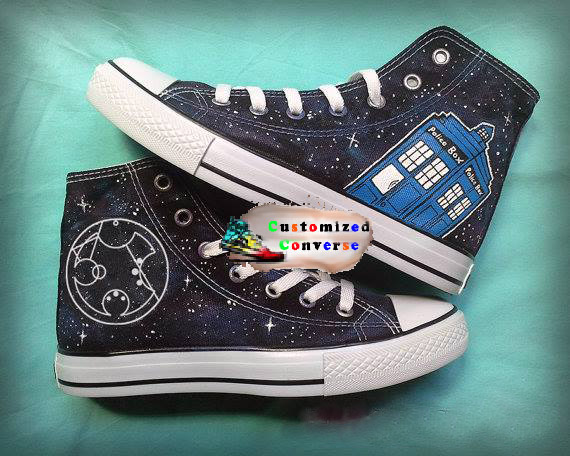 Dr Who Galaxy Shoes - converse shoes - custom converse - customized converse