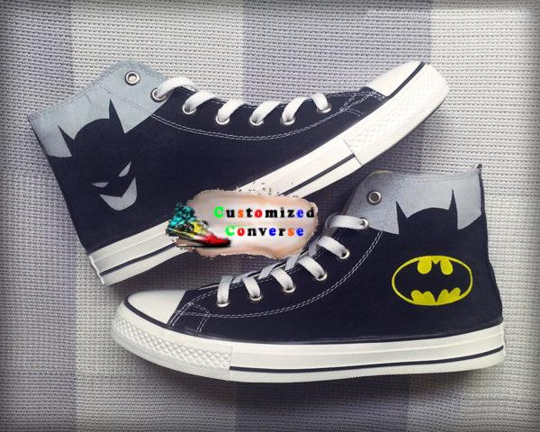 Batman Converse Shoes - converse shoes - custom converse - customized converse