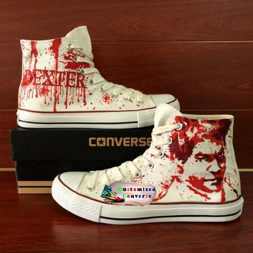 Dexter Shoes - converse shoes - custom converse - customized converse