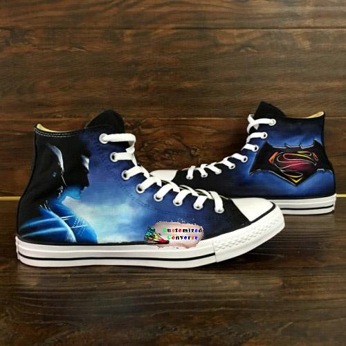 Batman Superman Shoes - converse shoes - custom converse - customized converse
