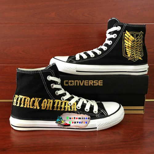 Attack On Titan Shoes - converse shoes - custom converse - customized converse