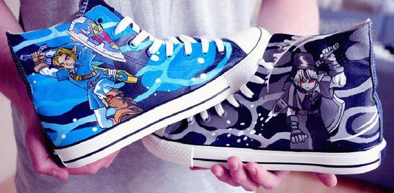 Zelda Link Shoes 3 - converse shoes - custom converse - customized converse