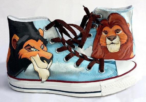 Lion King Shoes - converse shoes - custom converse - customized converse