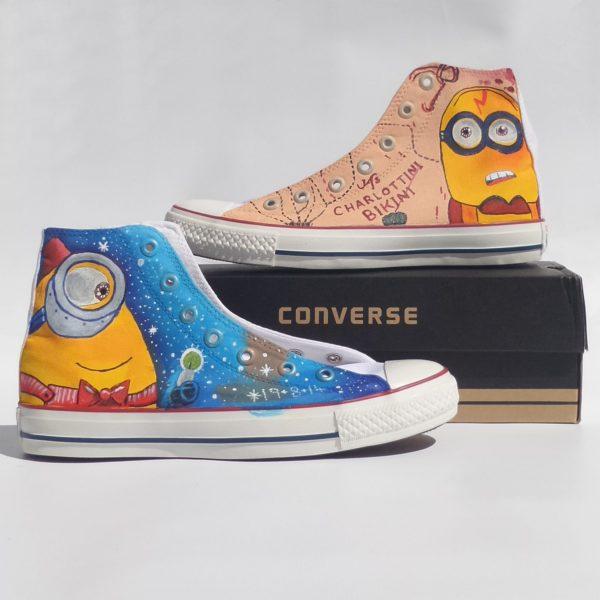 Harry Potter Minions Shoes - converse shoes - custom converse - customized converse