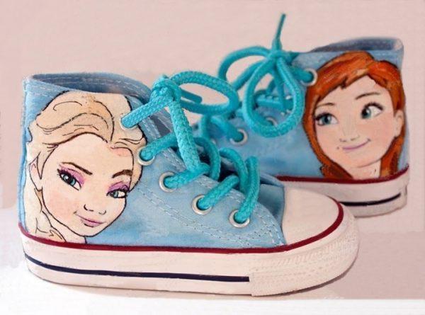 Frozen Converse Shoes - converse shoes - custom converse - customized converse