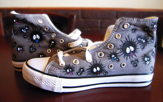 Totoro Converse Shoes - converse shoes - custom converse - customized converse