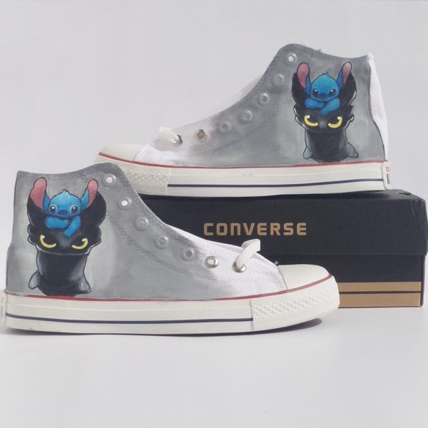 Toothless Stitch Shoes - converse shoes - custom converse - customized converse