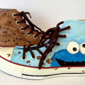 Cookie Monster Shoes - converse shoes - custom converse - customized converse