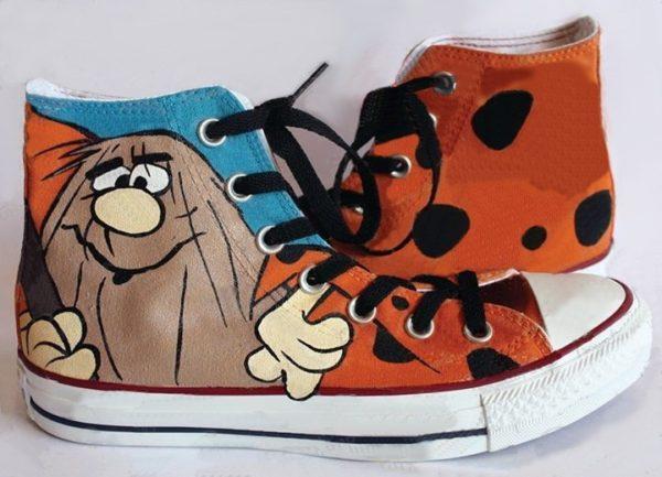 Captain Caveman Shoes - converse shoes - custom converse - customized converse