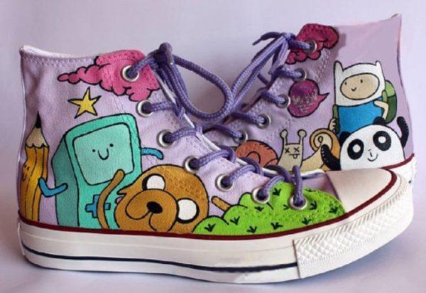 Adventure time Shoes - converse shoes - custom converse - customized converse