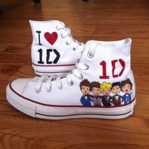 1D Shoes - Handpainted Custom Converse-Hand Painted Shoes